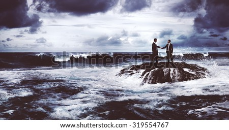 Business Opportunity in Crisis Connection Concept - stock photo