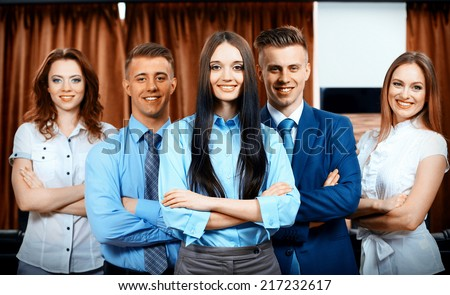 Business partners at office - stock photo