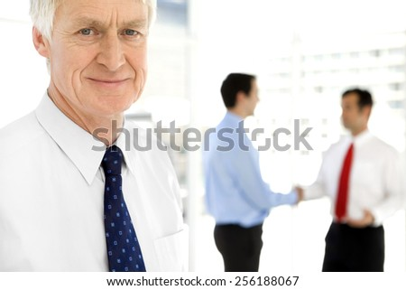 Business partnership - stock photo
