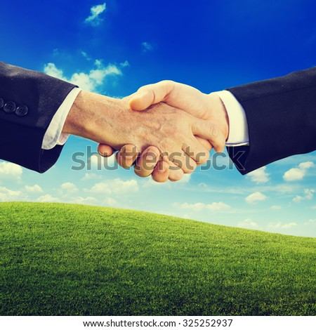 Business People Agreement Partnership Connection Concept - stock photo