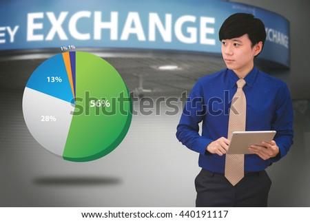 Business people analyzing financial charts - stock photo