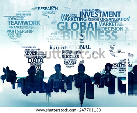 Business People and Global Business Concepts - stock photo
