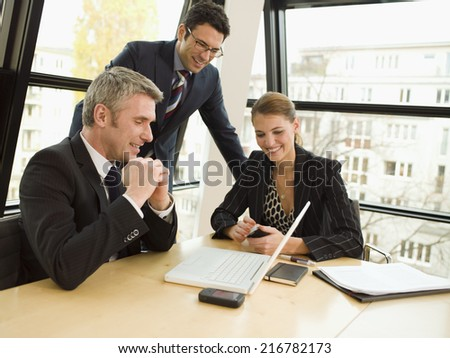Business people brainstorming. - stock photo