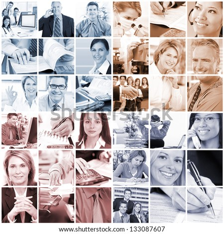 Business  people.  Businessmen and business women. - stock photo