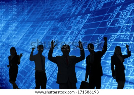 Business people celebration - stock photo