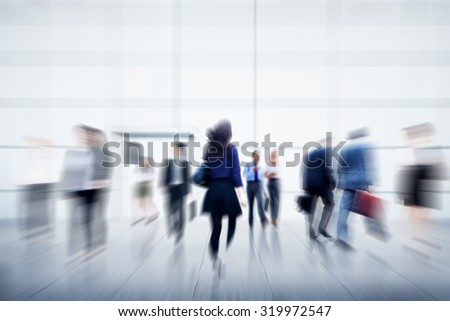 Business People City Life Hustle Hurry Occupation Concept - stock photo