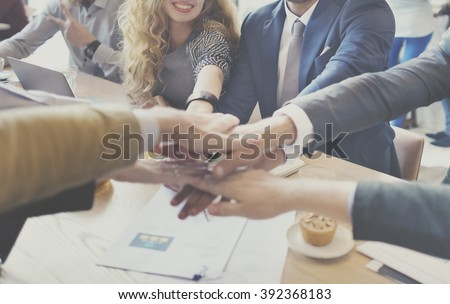 Business People Collaboration Teamwork Union Concept - stock photo