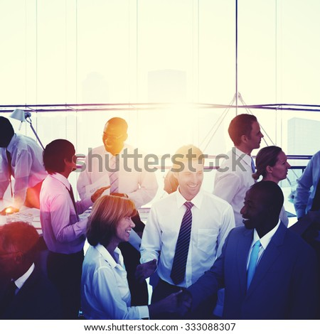 Business People Communication Colleagues Working Concept - stock photo