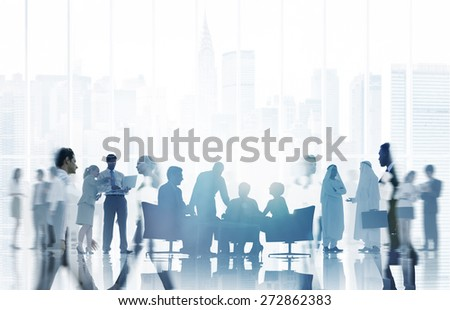 Business People Communication Corporate Team Concept - stock photo