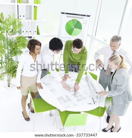 Business People Communication Working Planning Concept - stock photo