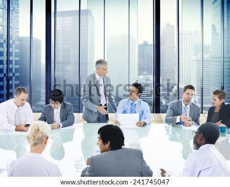 Business People Conference Meeting Boardroom Leader Concept - stock photo