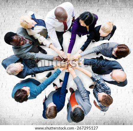 Business People Cooperation Coworker Team Concept - stock photo