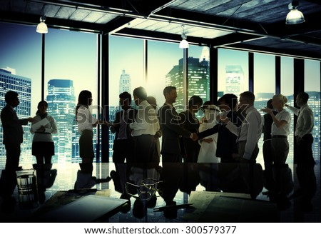 Business People Corporate Discussion Meeting Team Concept - stock photo