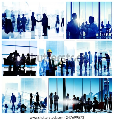 Business People Corporate Office Work Cityscape Concept - stock photo