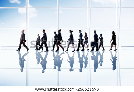 Business People Corporate Walking Office Concept - stock photo