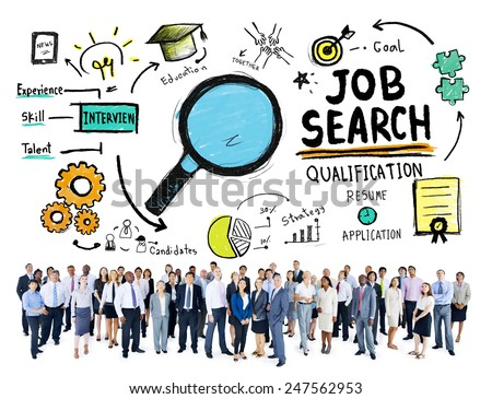 Business People Discussion Aspiration Job Search Concept - stock photo