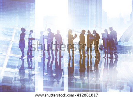 Business People Discussion Meeting Team Corporate Concept - stock photo