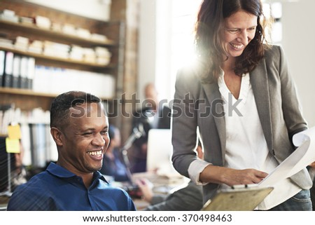 Business People Discussion Working Team Concept - stock photo