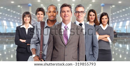 Business people group. Finance and accounting concept. - stock photo
