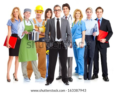Business people group isolated on white background. - stock photo