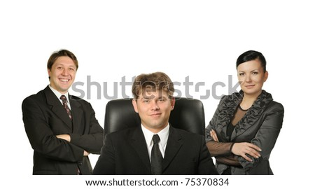 Business people. Group of people it is isolated on a white background. - stock photo