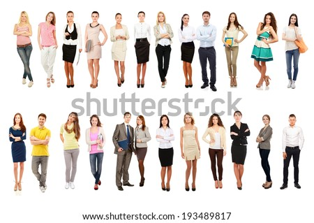 Business people group team standing  - stock photo