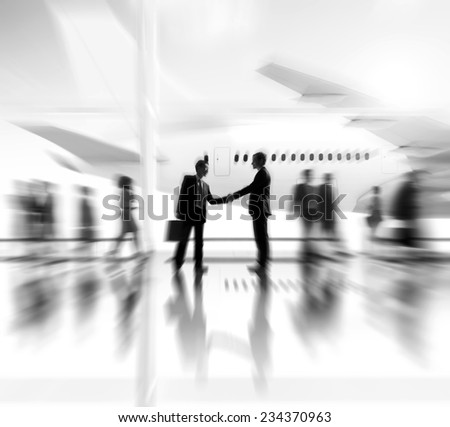 Business People Handshake Deal Agreement Collaboration Meeting Concept - stock photo