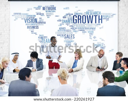 Business People Having a Meeting About Growth - stock photo
