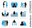 Business People Icons Set - stock photo