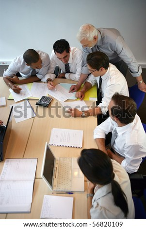 Business people in a meeting - stock photo