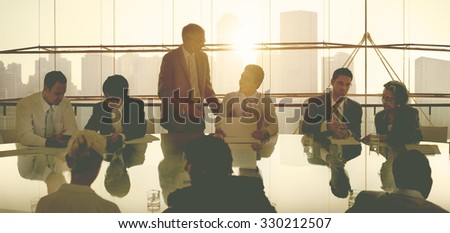 Business People in a Meeting and Working Together - stock photo