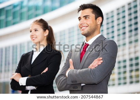 Business people in an urban environment - stock photo