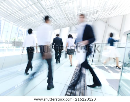 Business people in Asia. Hong Kong. - stock photo