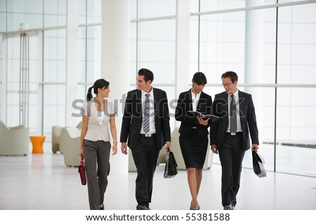 Business people in suit in a company - stock photo