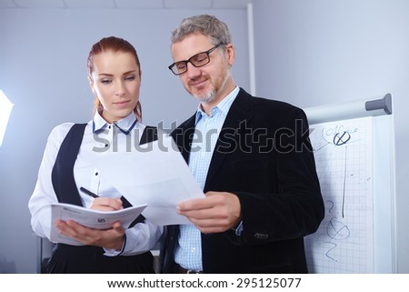 business people in the office - stock photo