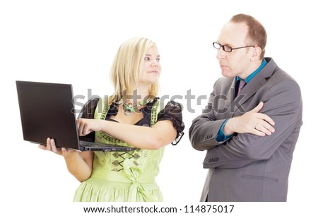 Business people in the workplace - stock photo