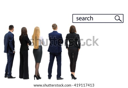 business people looking to search - stock photo