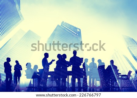 Business People Meeting Communication City Scape Concept - stock photo