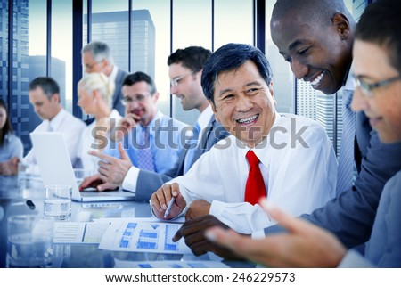 Business People Meeting Communication Discussion Working Office Concept - stock photo