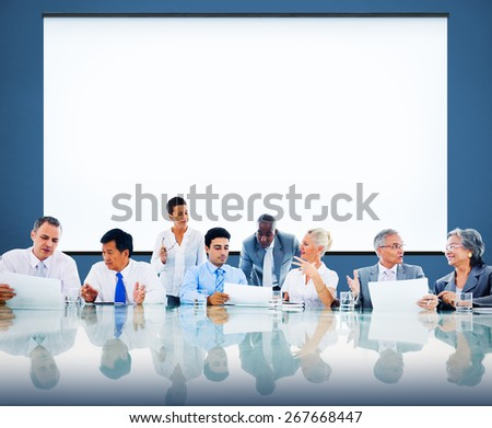 Business People Meeting Cooperation Team Concept - stock photo