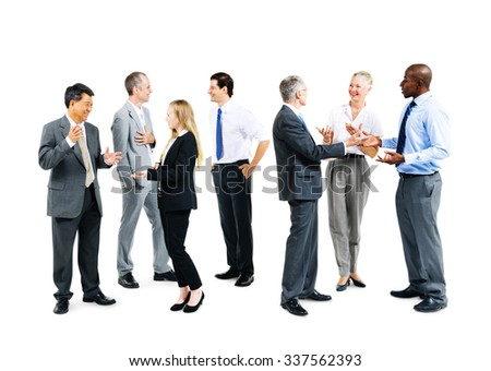 Business People Meeting Discussion Corporate Communication Concept - stock photo