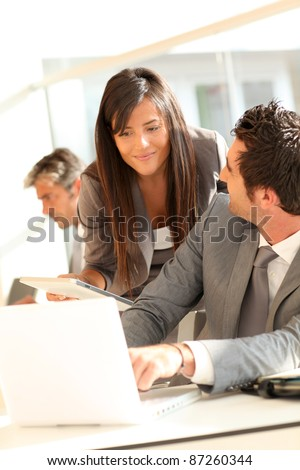 Business people meeting on office - stock photo