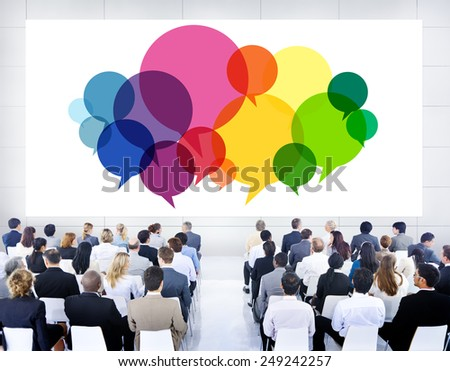 Business People Meeting Presentation Communication Concept - stock photo