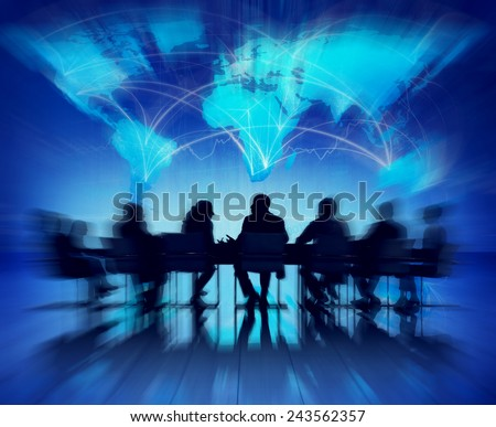 Business People Meeting Seminar Conference Partnership Collaboration Concept - stock photo
