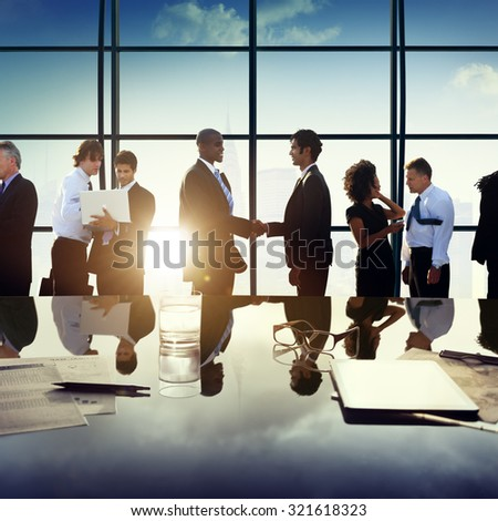 Business People Partnership Meeting Discussion Concept - stock photo