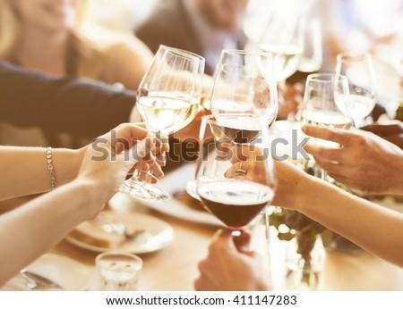 Business People Party Celebration Success Concept - stock photo