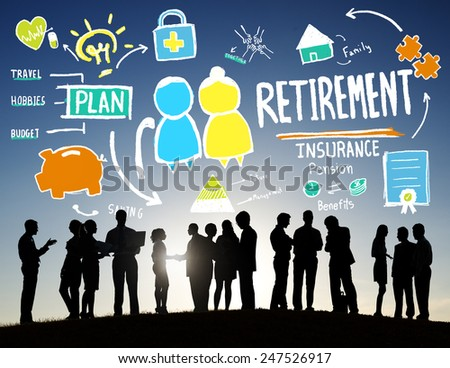 Business People Retirement Career Digital Communication Discussion Concept - stock photo