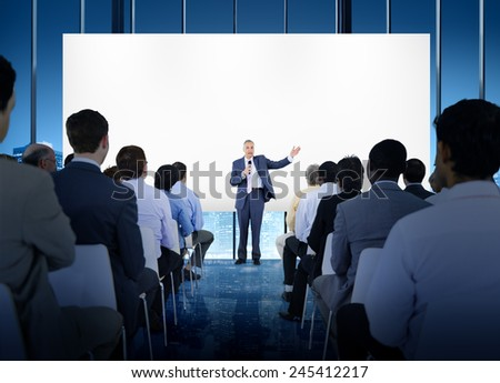 Business People Seminar Conference Meeting Office Training Concept - stock photo