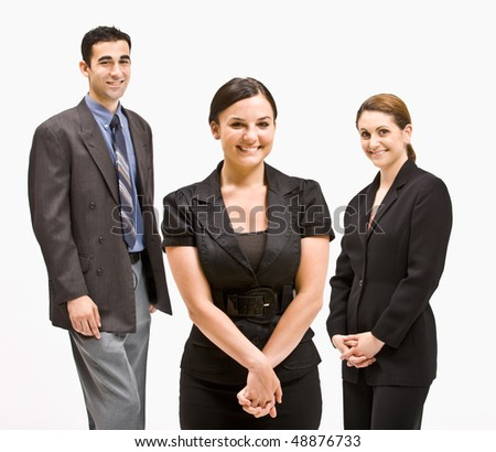 Business people smiling - stock photo