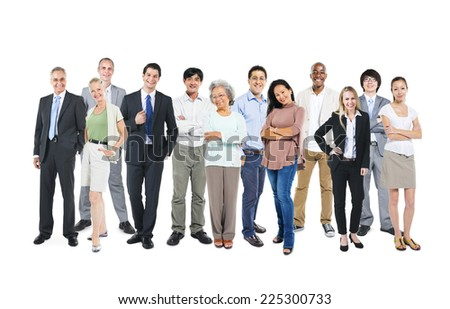 Business people standing and happy  - stock photo